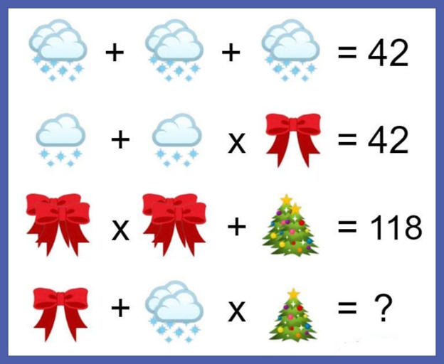 Clouds, Bow, Christmas Tree Puzzle