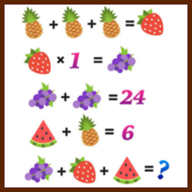 Grapes, Pineapple, Watermelon Puzzle