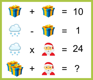 Cloud, Gift box, Santa Clause Puzzle